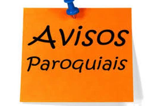 AVISOS PAROQUIAS