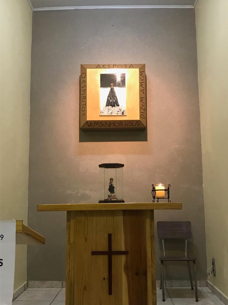 Terço na Capela Nossa Senhora Aparecida Restaurada